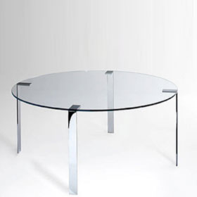 liko glass small round table - Arik Levy - Desalto